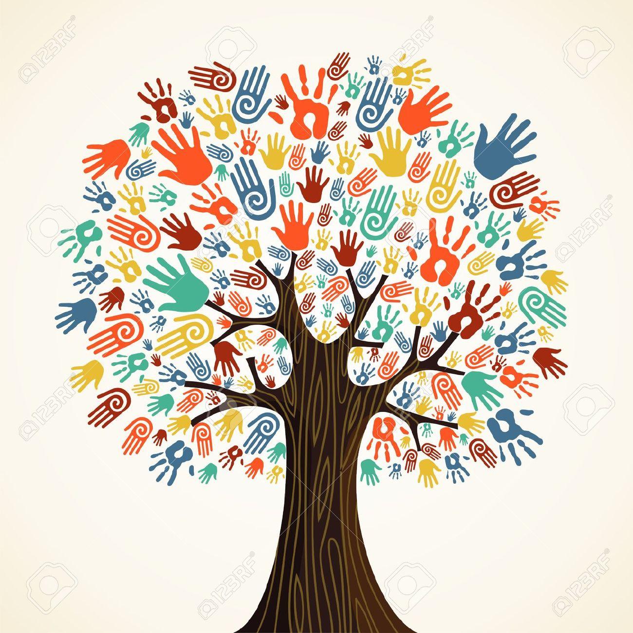 14310990-Isolata-la-diversit-albero-illustrazione-mani-Archivio-Fotografico c7149473b1ef
