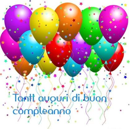 auguri di buon compleanno palloncini   Fondazione Bellora